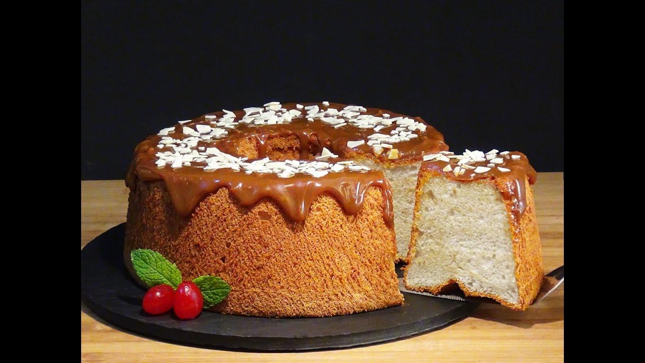 Receta Angel Food Cake (Pastel de ángel) - Recetas de cocina, paso a paso, tutorial