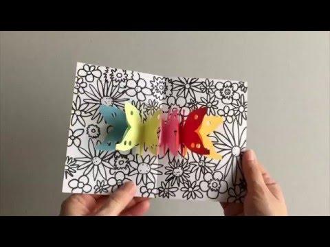 Pop Up Karte Mit Schmetterlingen Youtube