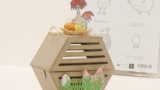 Bastelidee für Ostern ein Hühnerstall mit der Fensterbox - Anleitung