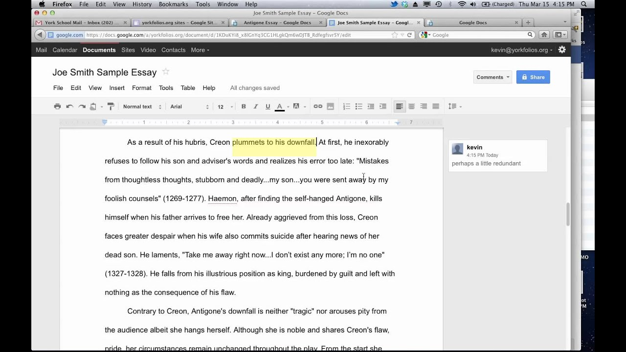 Using Keyboard Shortcuts to Comment in Google Docs - YouTube