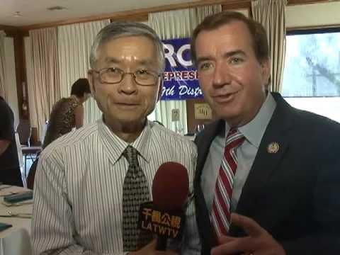 千楓公視_台美人支持眾議員Ed Royce 競選連任.