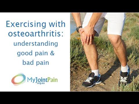 Exercising with osteoarthritis: understanding good pain & bad pain