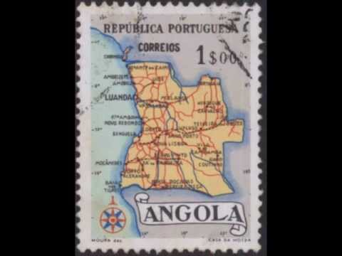 Angola Africa Tribes Women Maps Stamps Collection