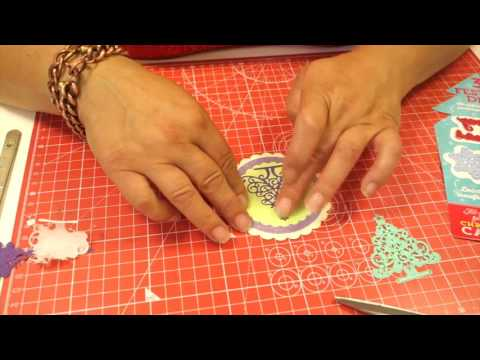 How to make an embellished Christmas Card using dies