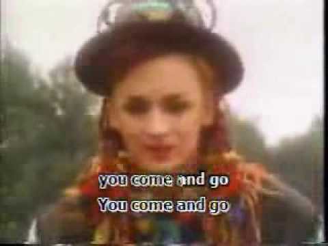 Karma Chameleon With Lyrics on Screen