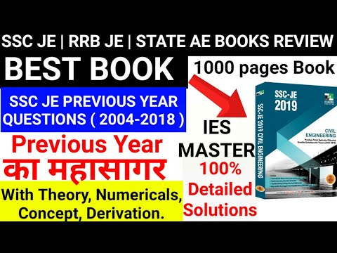 BEST BOOK FOR SSC JE RRB JE   SSC JE PREVIOUS YEAR QUESTIONS BOOK CIVIL  ENGINEERING