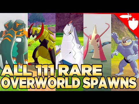 All 111 Rare Overworld Spawns In Pokemon Sword And Shield