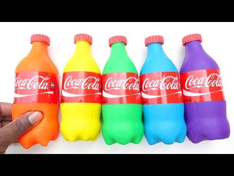 Thumbnail: How To Make Play Doh Coca Cola Modelling Clay Baby Learn Colors Mighty Toys