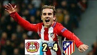 Bayer Leverkusen vs Atletico Madrid 2-4 RESUMEN Y GOL X ESPN narracion en español