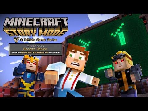 "Minecraft: Story Mode Episode 7 ""Access Denied""  All Cutscenes (Game Movie) 1080p HD"
