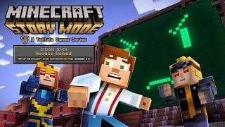"Minecraft: Story Mode Episode 7 ""Access Denied""  All Cutscenes (Game Movie) 1080p HD"