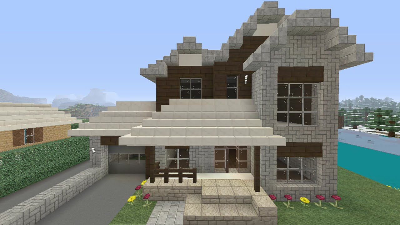 Fr minecraft maison realiste tuto xboxone youtube - Video maison minecraft ...