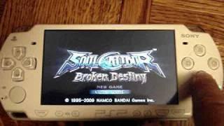 PSP 5.50 GEN-B Playing Gran Turismo and Soul Calibur Broken Destiny