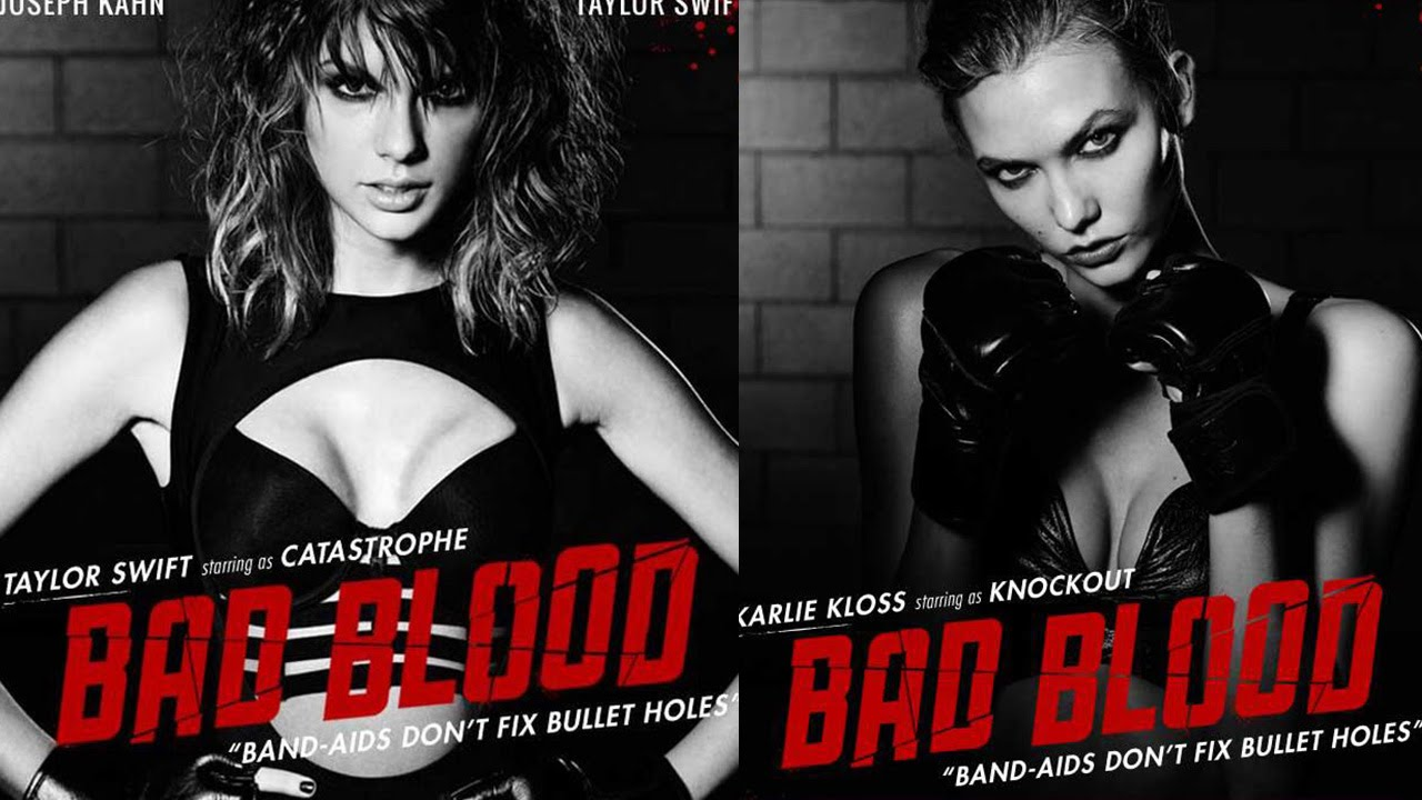 "Taylor Swift VS. Karlie Kloss - NEW ""Bad Blood"" Poster - YouTube"