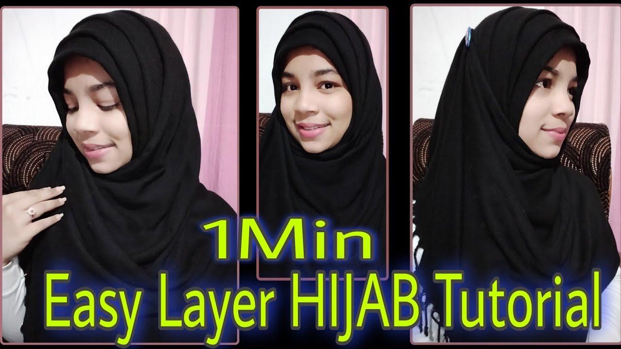 Easy Layer Hijab Tutorial Hijab Layerhijab Girlinhijab Lilysbeautyworld Shorts Youtube