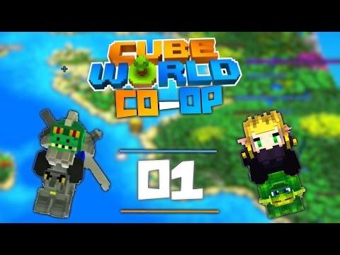 Cube World Co-Op MODDED | Episode 1 | FRESH START