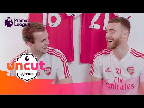 Chambers & Holding   Who's Their ULTIMATE Premier League Teammate?   Uncut @ Arsenal   AD