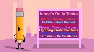 Battle for BFDI Club 2 Episode 2: iance's Daily Tasks