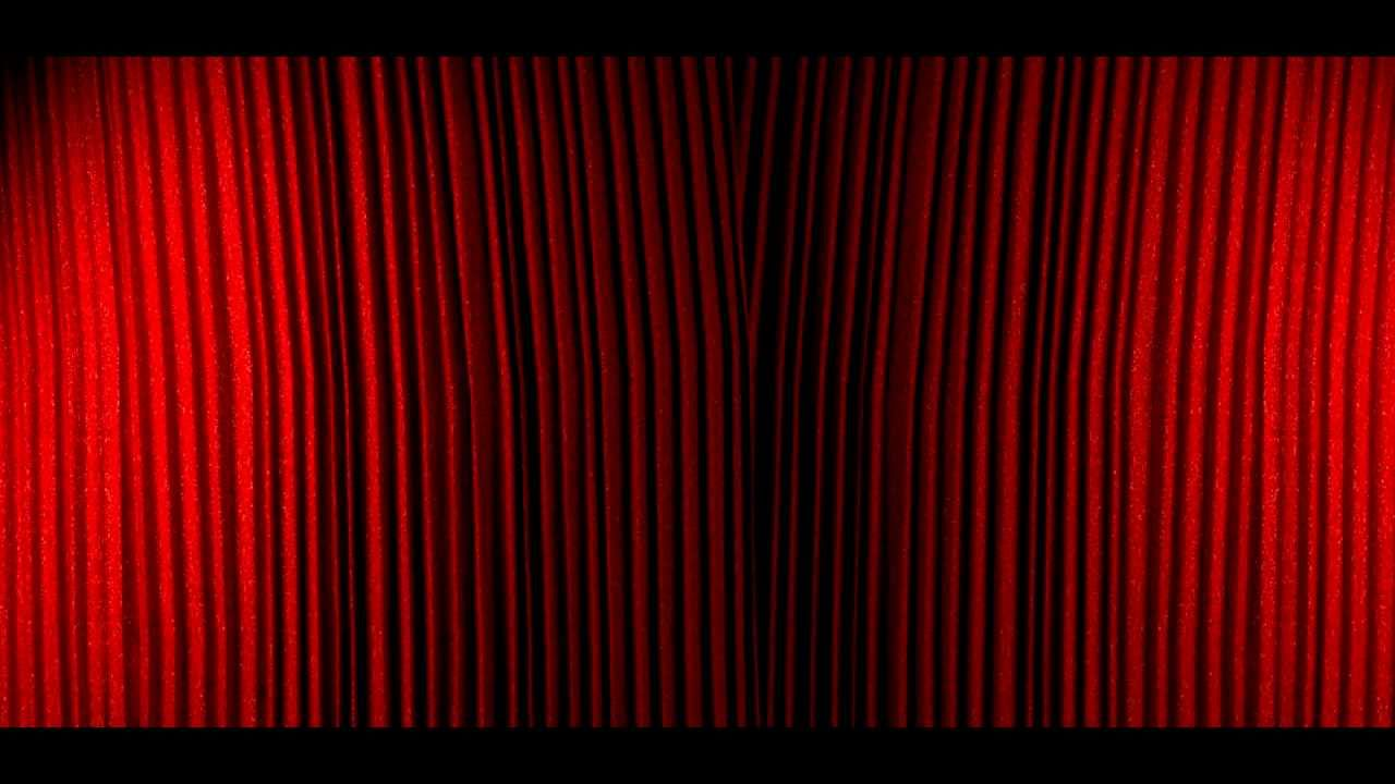 Red stage curtains open - Curtain Opening Sequence