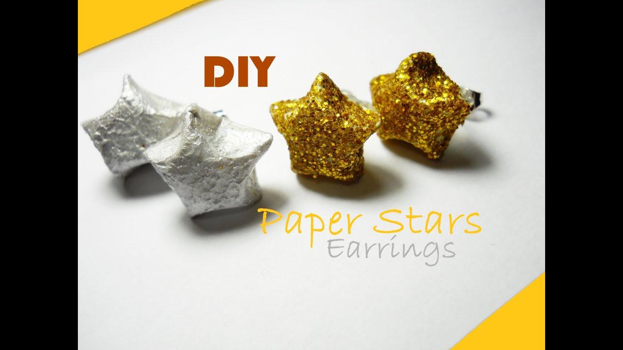 Conosciuto DIY Paper Stars Earrings ✰ Orecchini di Carta a forma di Stellina  OG58