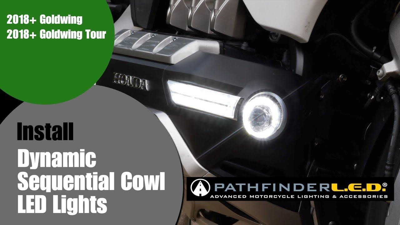 PathfinderLED Dynamic Sequential LED Cowl Lights for 2018+ Goldwing