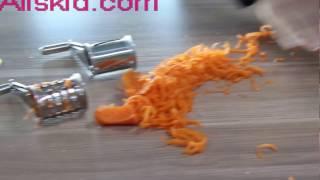 Rotary Cheese Grater,Stainless Steel Hand-Crank Rotary Razor Sharp Blades Shredder Slicer Machine
