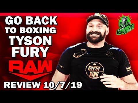 TYSON FURY BRAWLS WITH BRAUN STROWMAN | WWE Raw 10/7/19 Full Show Review & Results