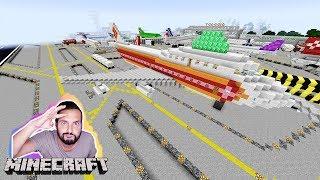 AIRPORT EMERALD LUCKY BLOCK BATTLE! Kaan will in Urlaub fliegen! Minecraft Flughafen Map