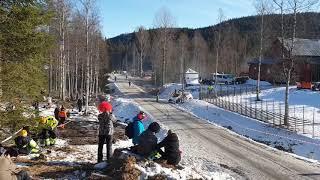 Жуткая авария Джона Армстронга на ралли Швеции 2020