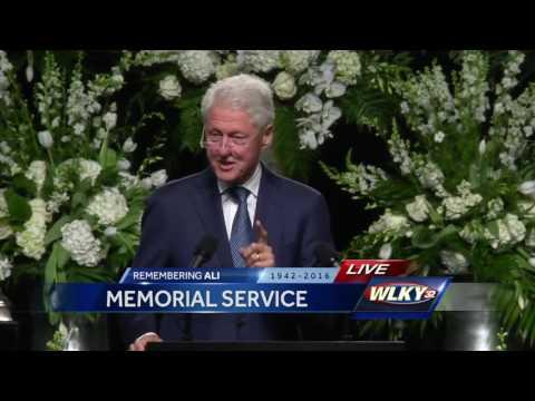 Muhammad Ali memorial: President Bill Clinton