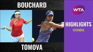 Eugenie Bouchard vs. Viktoriya Tomova   2020 TEB BNP Paribas Istanbul First Round   WTA Highlight