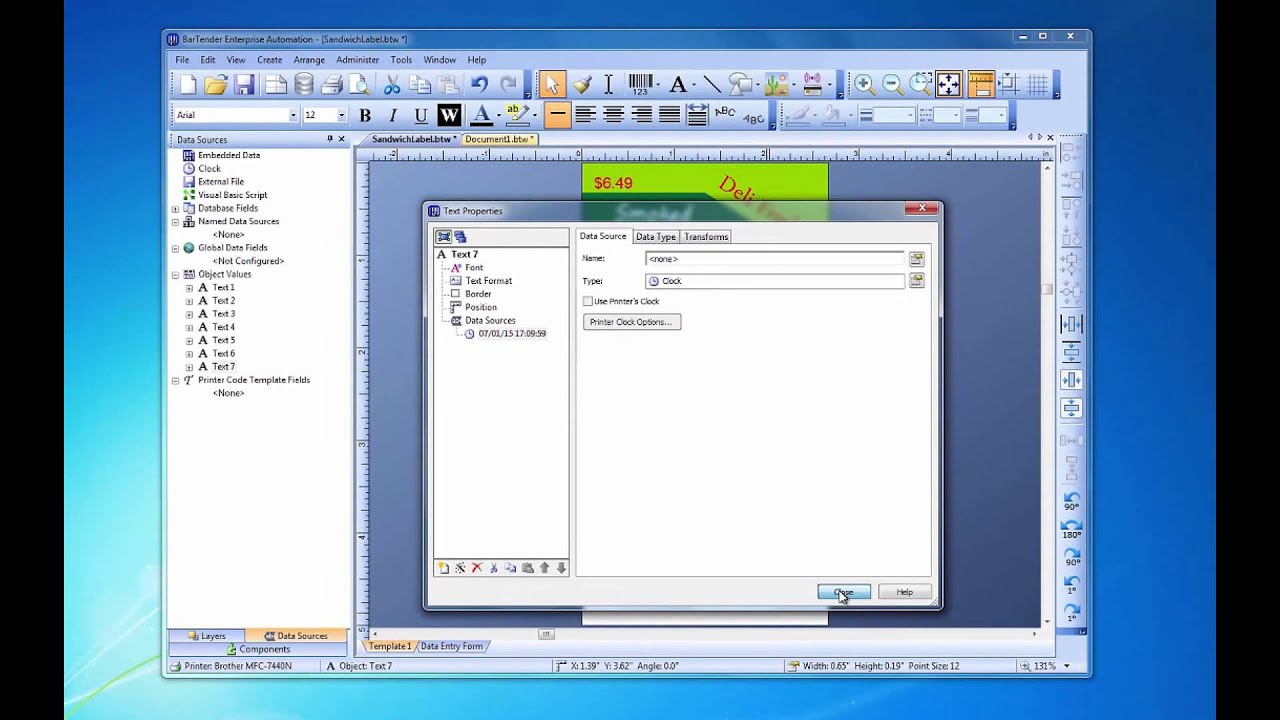 Working with Dates and Times in BarTender Software ...