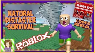 THE TWISTER BLEW OFF MY HAIR!!! ROBLOX NATURAL DISASTER SURVIVAL | Codes from Blind Boxes