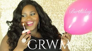 MY BIRTHDAY GRWM! Makeup, Hair + Outfit Thumbnail