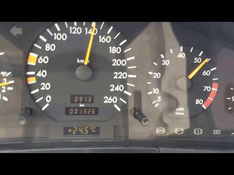 Mercedes W140 ( S320 ) 0 - 160 Km/h