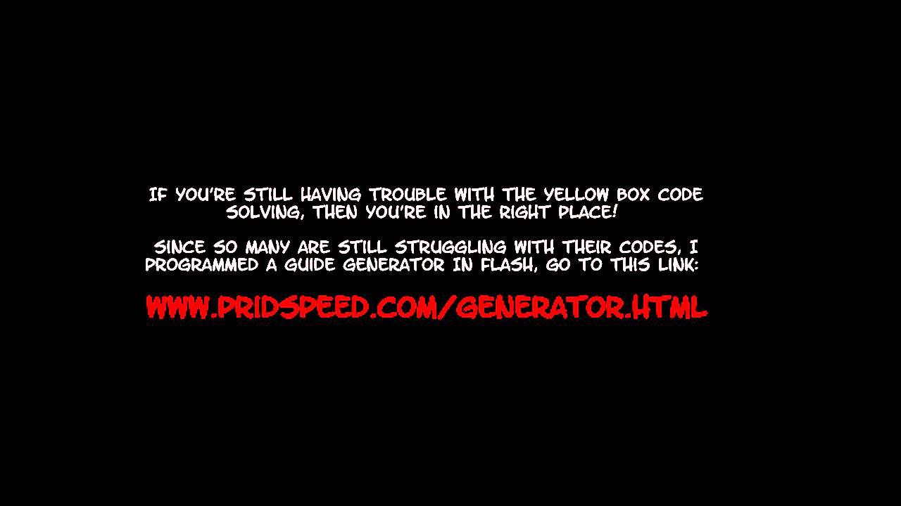 Lights Yellow Box Code Generator Youtube