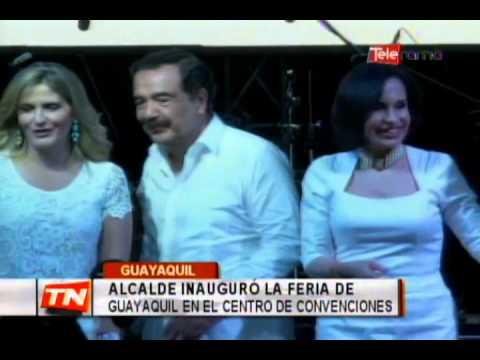 Alcalde inauguró la feria de Guayaquil en el centro de convenciones