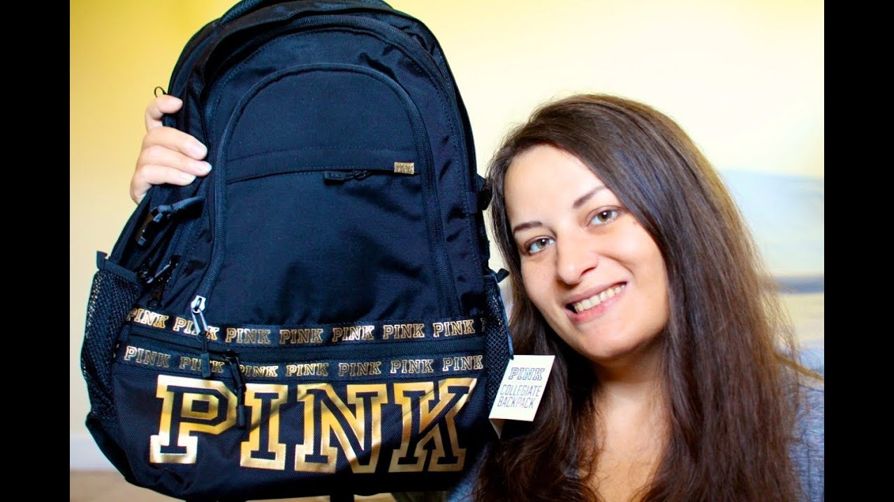 8d57463412 VICTORIA SECRET PINK Collegiate Backpack review BACK TO SCHOOL - YouTube