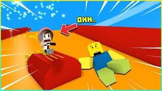 🍟 ROBLOX 🍟 - หนีออกจากแมคโดนัลด์ที่แสนวุ่นวาย !! SLIDING DOWN