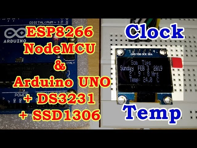 Set Time on DS3231 Real Time Clock With ESP8266 - Som Tips