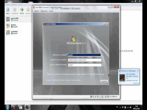 instalar windows server 2008 con virtualbox - YouTube