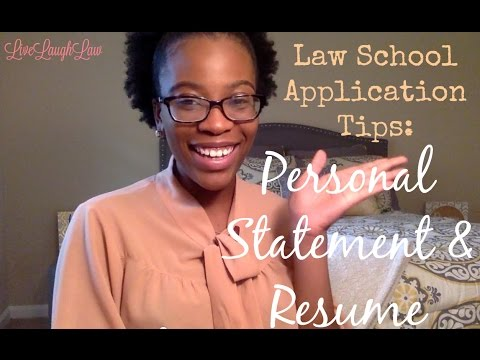 Law School Application Tips - Personal Statement & Resume