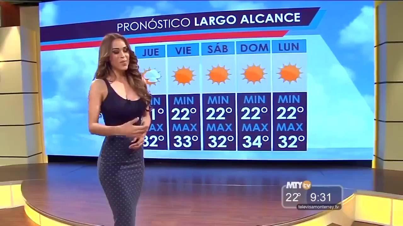 Mexikanische Wettermoderatorin