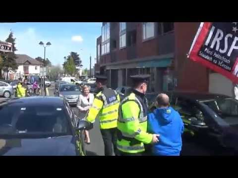 Frances Fitzgerald Walks Into Clondalkin Protesters
