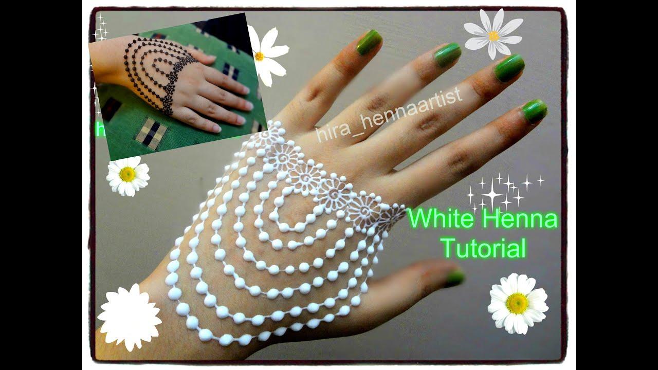 White henna design 5 five white henna designs - Easy Diy Best And Beautiful White Henna Mehndi Design Jewelry Style Tutorial Youtube