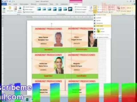 LECCION 30 CREAR CARNETS REUBICADOS EN HOJA TAMAÑO CARTA - YouTube - formatos para gafetes