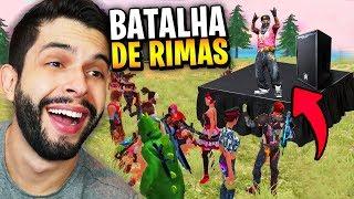 MC PLAYHARD?!? A MELHOR BATALHA DE RIMAS SOBRE FREE FIRE!!!