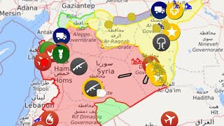اخر التطورات في سوريا خرائط حروب الشرق الاوسط