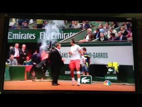 (HD) French Open Men's Finals: Nadal/Ferrer Interruption