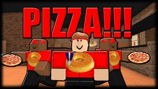 Playing Roblox-Pizzas of madness!